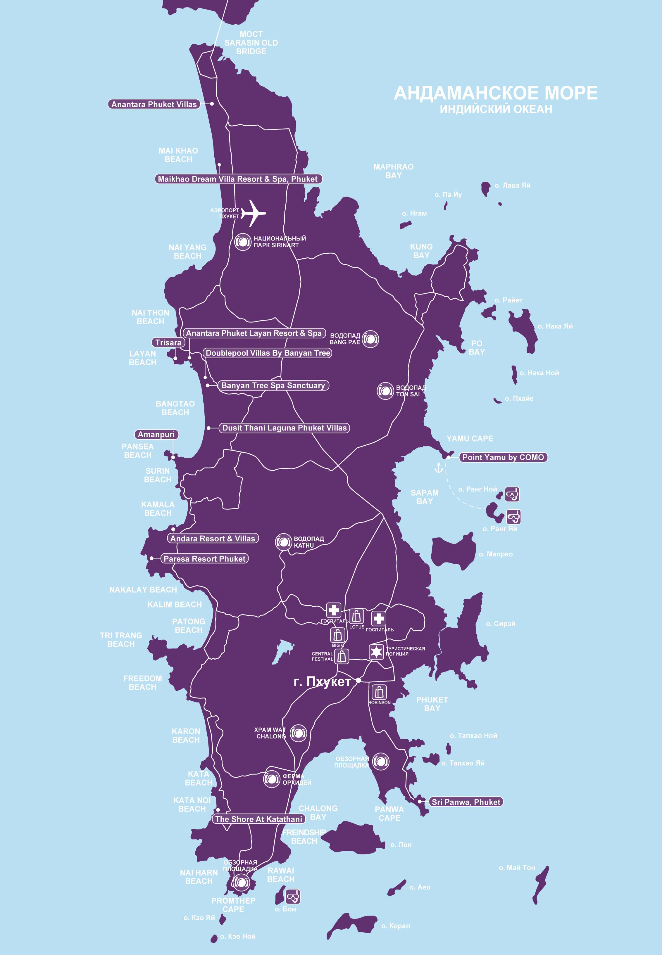 Karta Phuket.Phuket Regions Maps Of Thailand Sayama Luxury